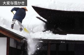大変な雪かき
