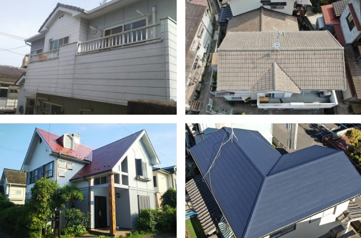 様々な屋根の形