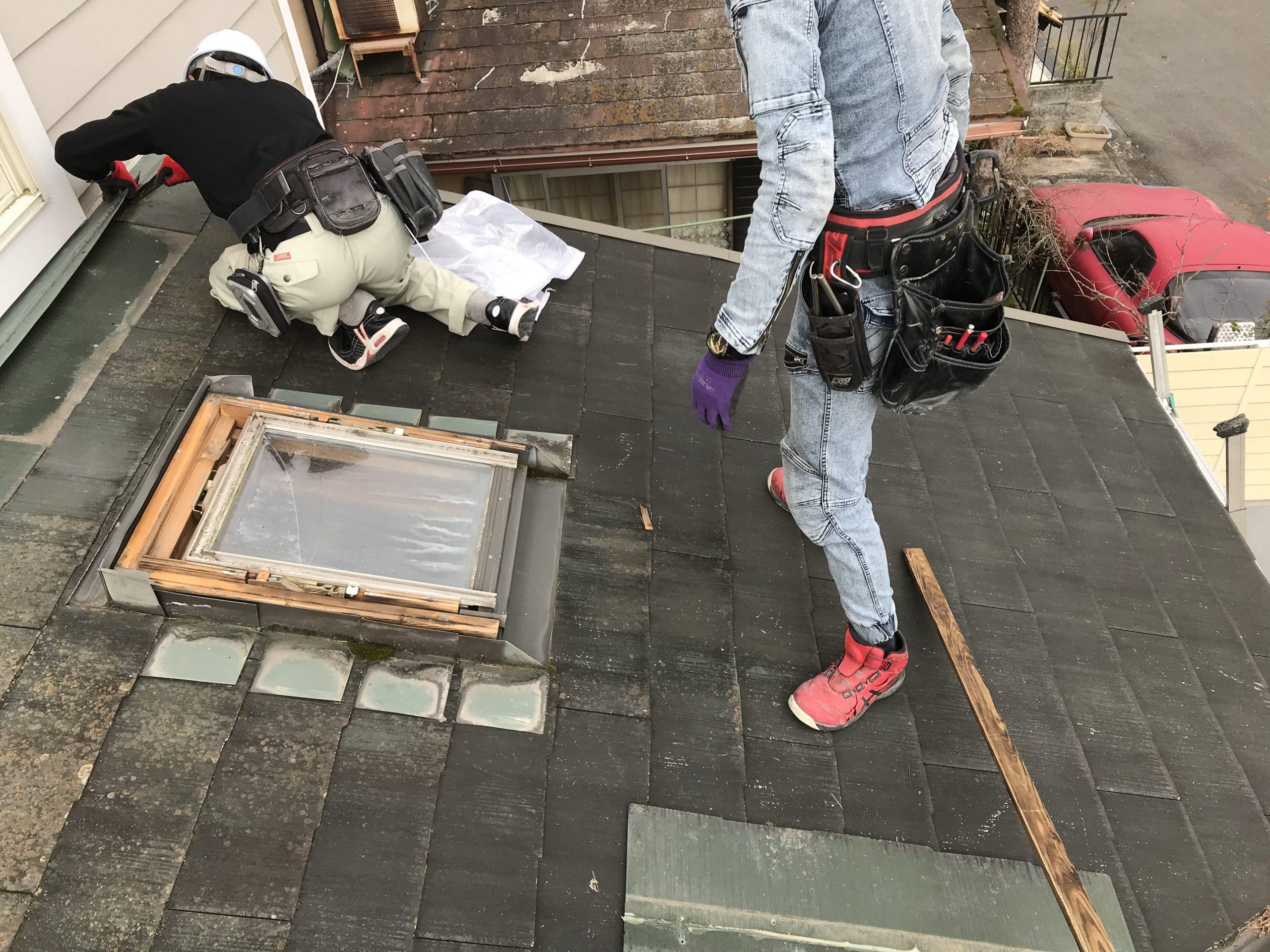 大津市大江にて屋根雨漏りでお困りの天窓撤去工事をさせていただきました
