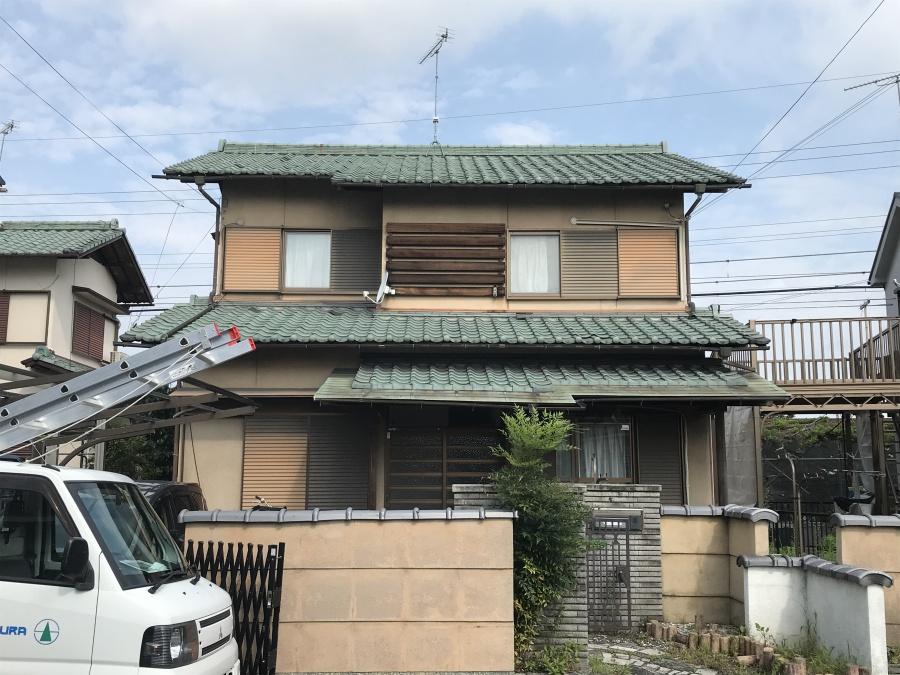 栗東市の釉薬瓦屋根の雨漏り修理とメンテナンス(動画付き)