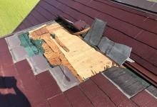 スレート屋根の破損確認別アングル