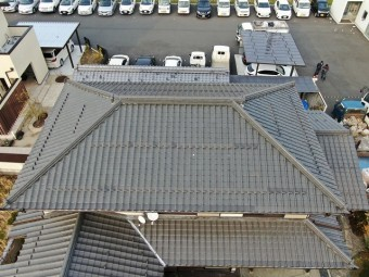 大屋根の棟確認