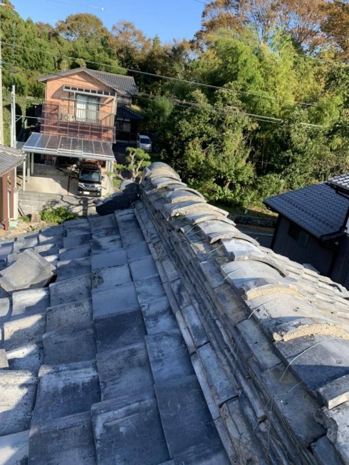 台風被害棟破損