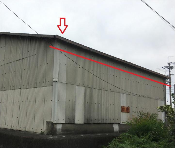 屋根の軒樋確認