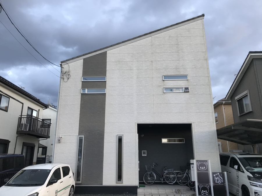 大津市にて片流れ屋根と外壁塗装の点検を行いました