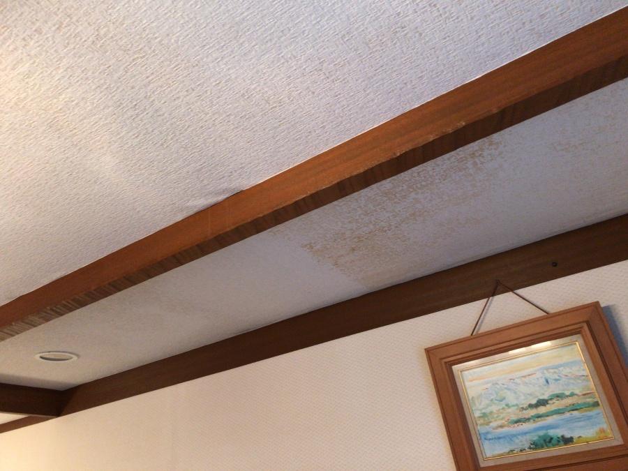 天井雨漏りシミ