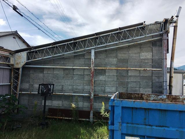 危険物倉庫側面