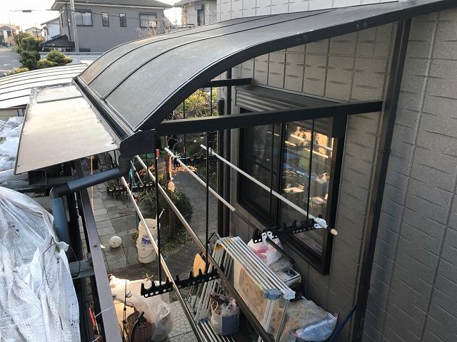 物置屋根から撮影