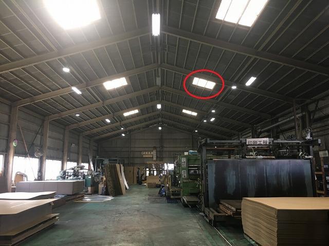機械上の屋根確認