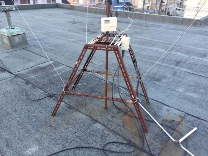 テレビアンテナの架台