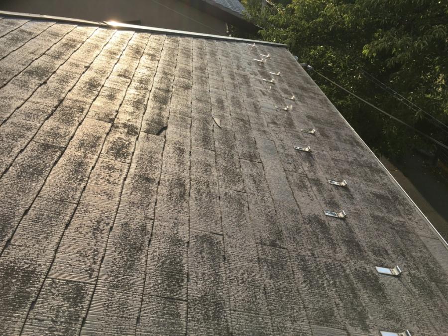 スレート屋根の状況確認