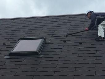 挟まり屋根材撤去