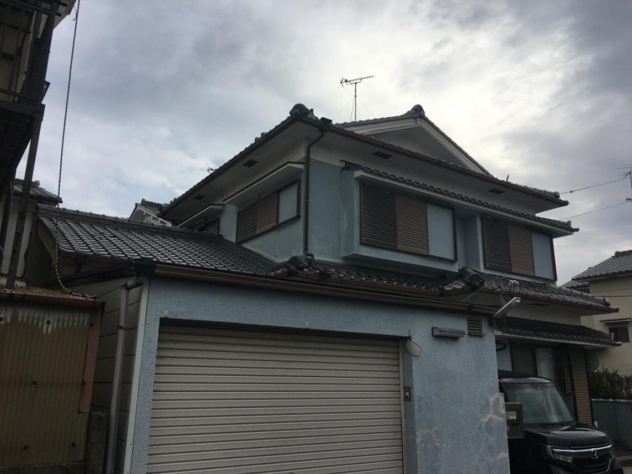 草津市にていぶし瓦葺き屋根の補修工事をされたお客様の声