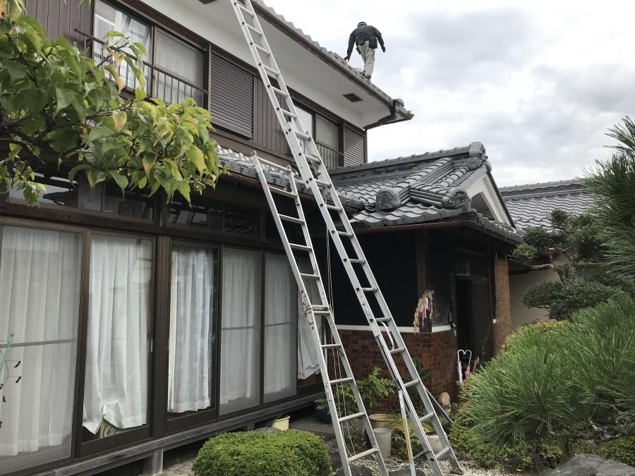 守山市にて和瓦屋根の雨漏りを修理させていただきました