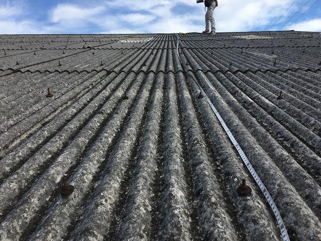 屋根寸法を測る