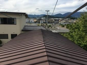 瓦棒葺き屋根確認