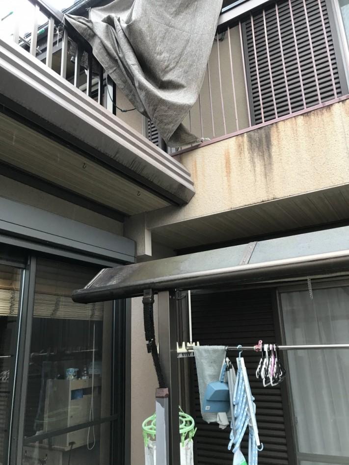 雨漏り増築外壁取合い
