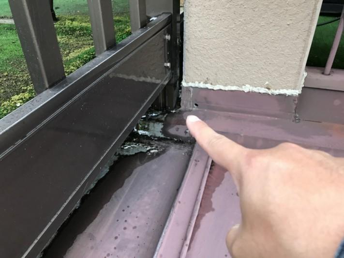 雨漏りベランダ外壁取合い