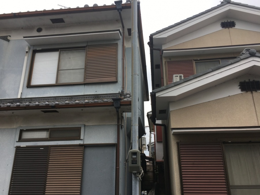 高屋根樋傾き