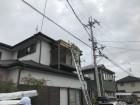 ベランダ屋根の修理開始