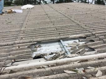 屋根上の被害