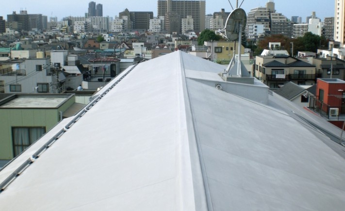 シート防水勾配屋根