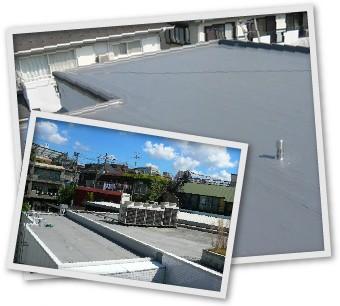 平らな陸屋根